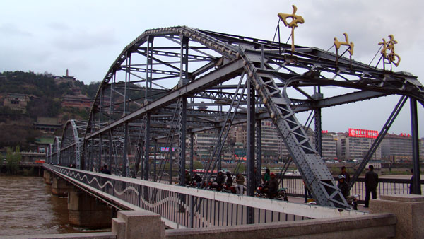 兰州黄河铁桥改名为中山